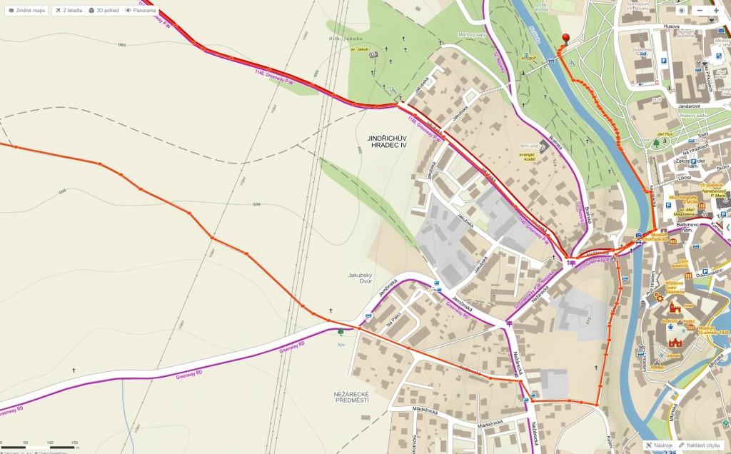 Jinřichohradecký půlmaraton – detail startu a doběhu