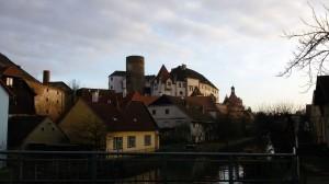 pohled na zámek Jindřichův Hradec