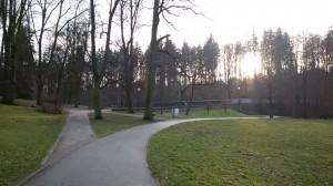 Start - Cíl - park pod Gymnáziem